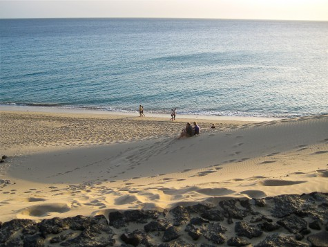 Jandia playa and the sand slope.